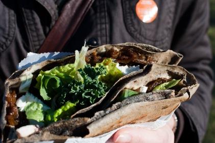 Crepe mit Gemüse aus Dinkel